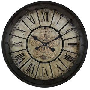 Black Cogs 60cm Clock