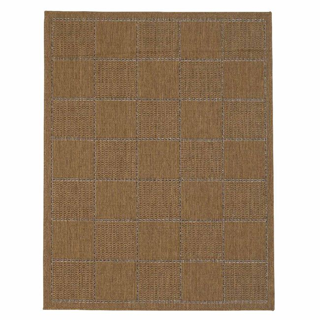 Checked Flatweave Doormat Natural 60x110cm