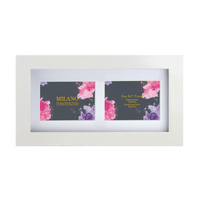 Milano Glossy White Photo Frame Duo 5x7""