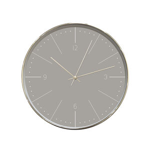 Sleek Grey Clock 12""