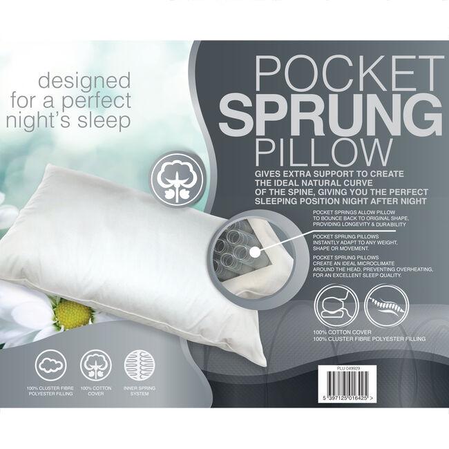 Deluxe Pocket Sprung Pillow