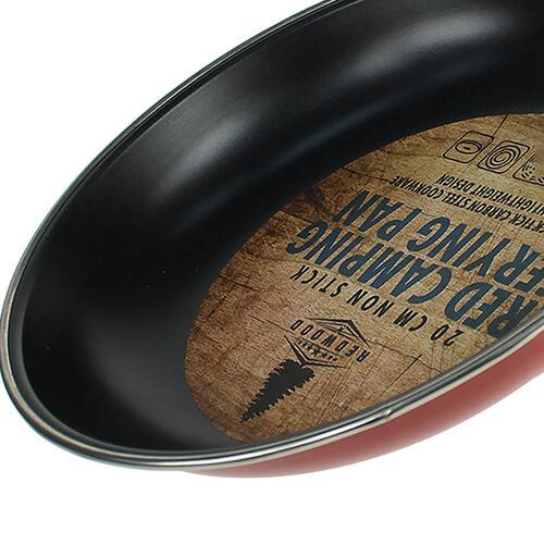Red Camping Frying Pan