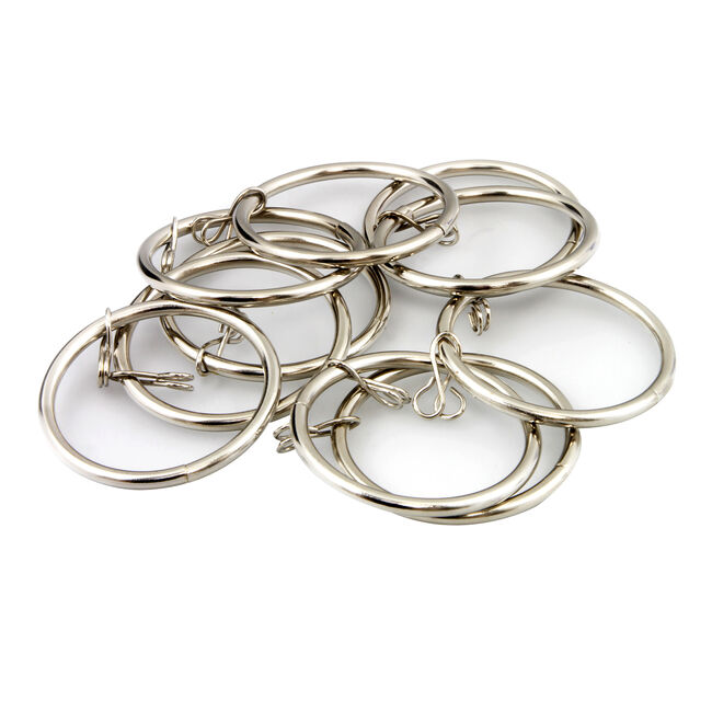 Metal Rings Brushed Nickel 28mm 10 Pack