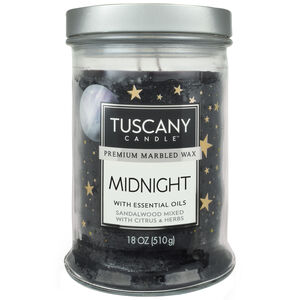 Tuscany 18oz Double Wick Candle Midnight