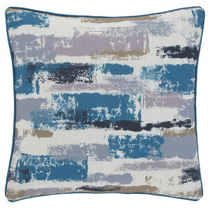 Painterly Cushion 45x45cm - Teal