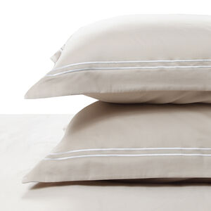 300TC Cotton Double Stitch Oxford Pillowcase Pair - Gold