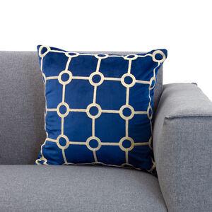Embroidered Stitch Cushion 45x55cm - Navy