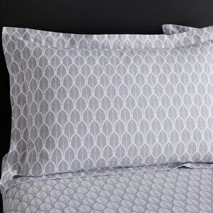 Maria Oxford Pillowcase Pair - Grey