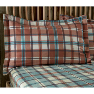 Brushed Cotton Jordan Check Oxford Pillowcase Pair