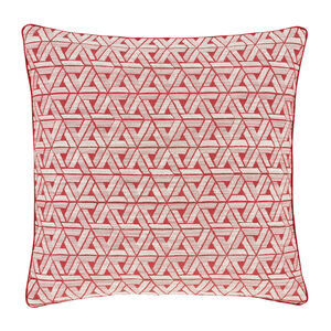 Triangles Cushion Red 58cm x 58cm