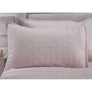 Quilted Hotel Velvet Pillowshams 50 x 75cm - Blush