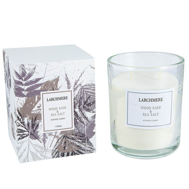 Larchmere Wood Sage & Sea Salt Scented Candle