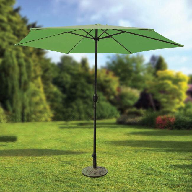 2.7M Crank Sun Parasol Bright Green