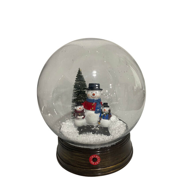 Snowing Lantern Globe Snowman Family