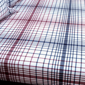 BRUSHED COTTON FAIRISLE STAG BERRY Single Fitted Sheet