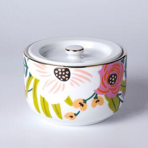 Atelier 75 Tropical Pink Flower Sugar Bowl