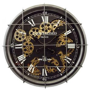 Caged Cogs 52cm Gunmetal Clock