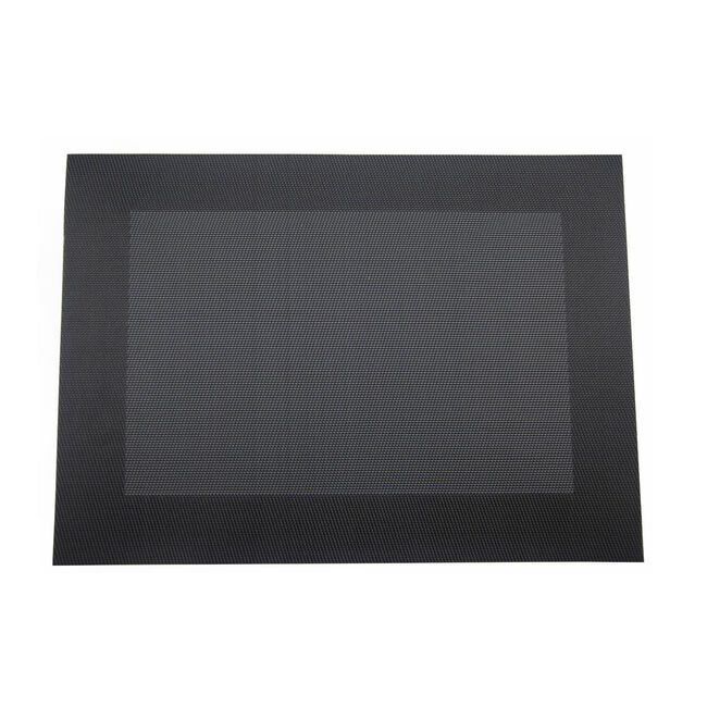 Netted Oxford Placemat - Black