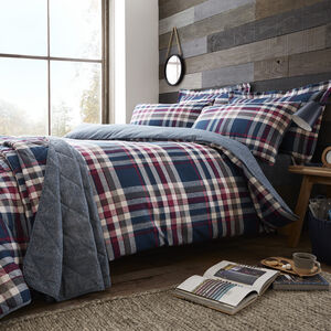 SINGLE DUVET COVER Brushed Cotton Matthews Check