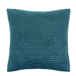 Velour Stitch Green 58x58 Cushion