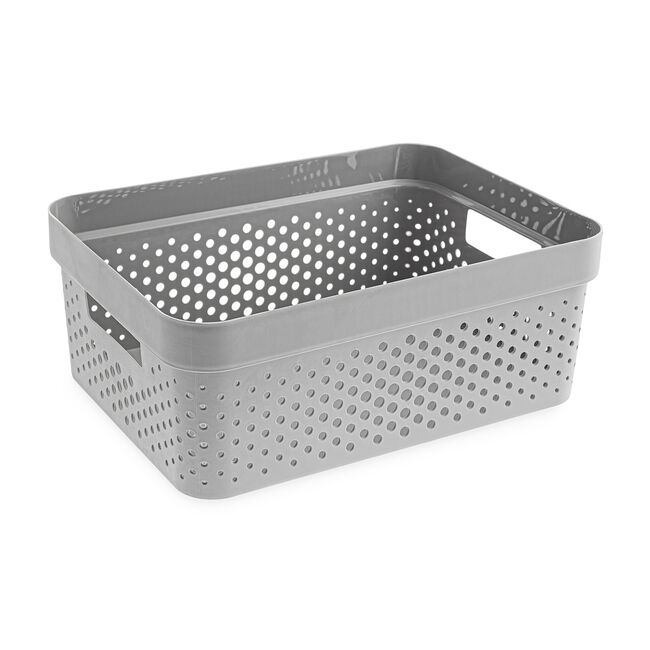 Infinity Charcoal 11L Basket with Lid