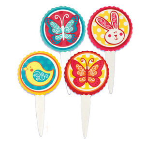 Easter Little Garden Cupcake Toppers
