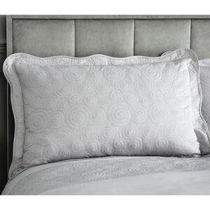 Swirls Pillowshams 50x75cm - Silver