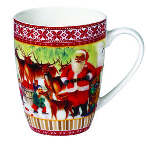 Love Christmas Santa & Friends Mug