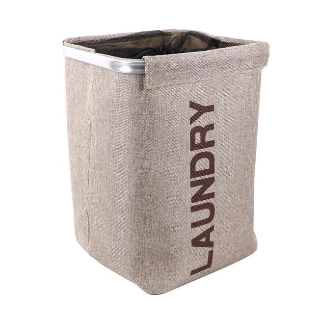 Netted Beige Laundry Hamper