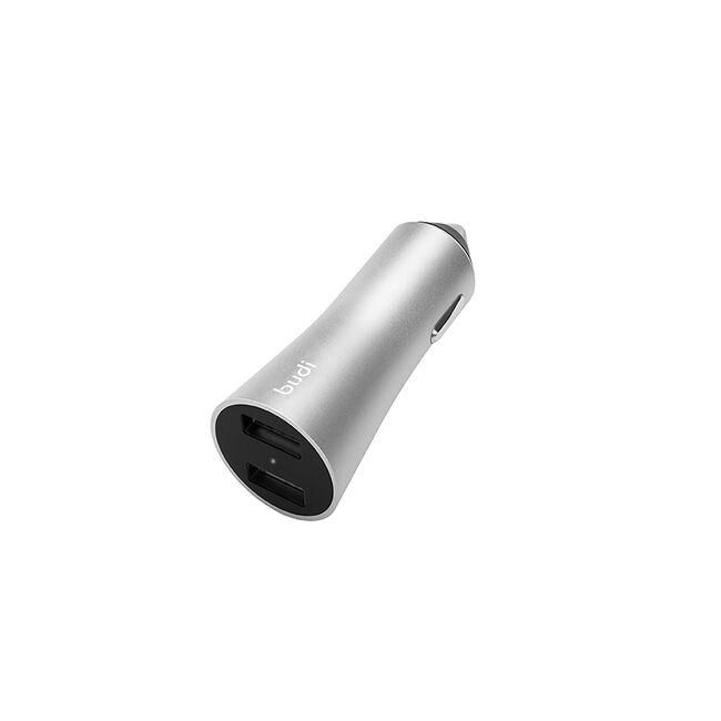 Budi Silver 2 USB Fast Car Charger