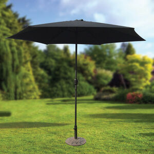 2.7M Crank Sun Parasol Black