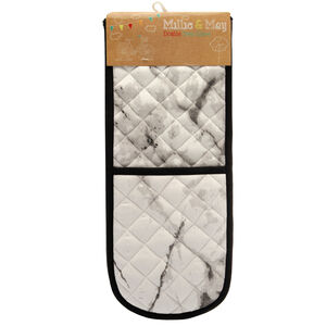 Marble Black/White Double Oven Glove