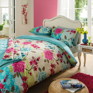 Abstract Floral 100 Percent Cotton Duvet Cover