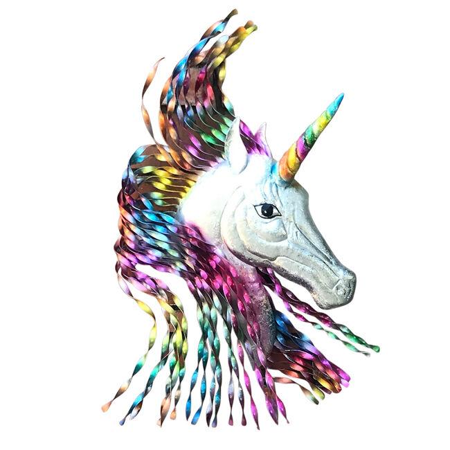Rainbow Unicorn Garden Wall Art