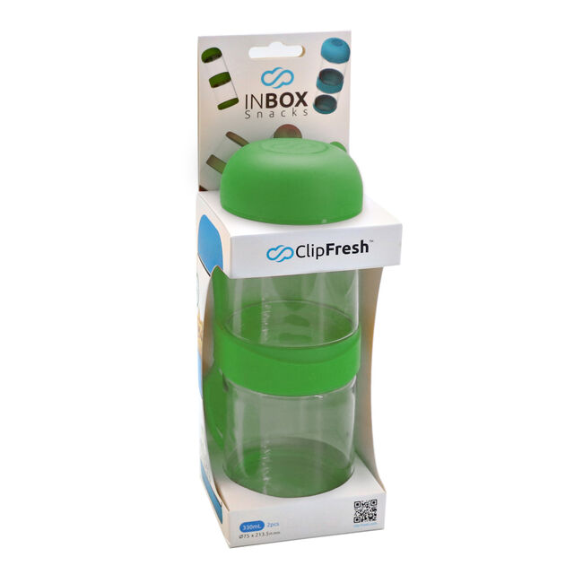 Clip Fresh Green Snack Container With Fork