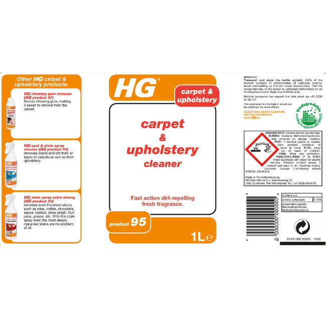 HG Carpet & Upholstery Cleaner 1L