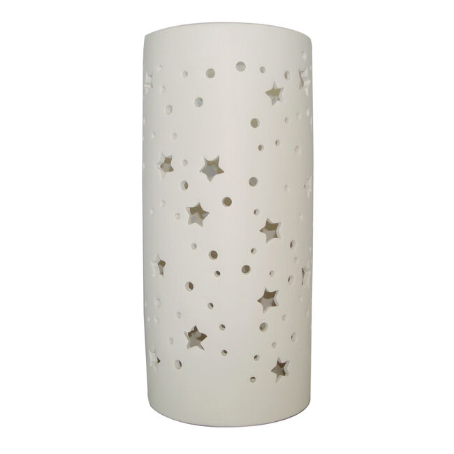 Ceramic Sculptured Stars Table Lamp
