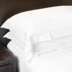 350TC Cotton Oxford Pillowcase Pair - White