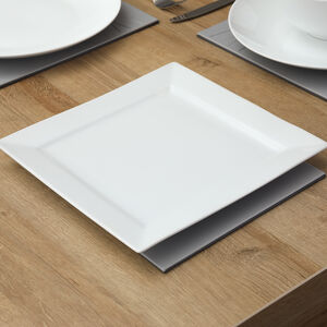 "ABNEY & CROFT WHITE 10"" Square Dinner Plate"