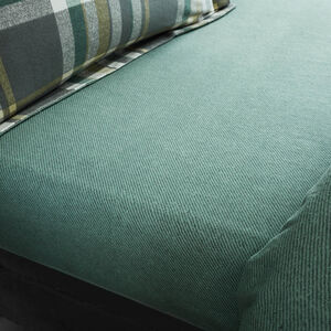 Brushed Cotton Naughton Check Fitted Sheet