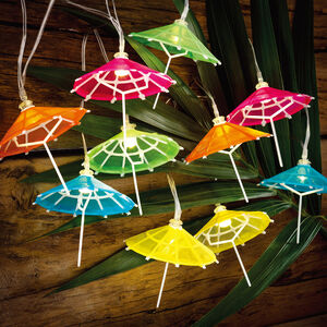 10 Umbrella Solar String Lights