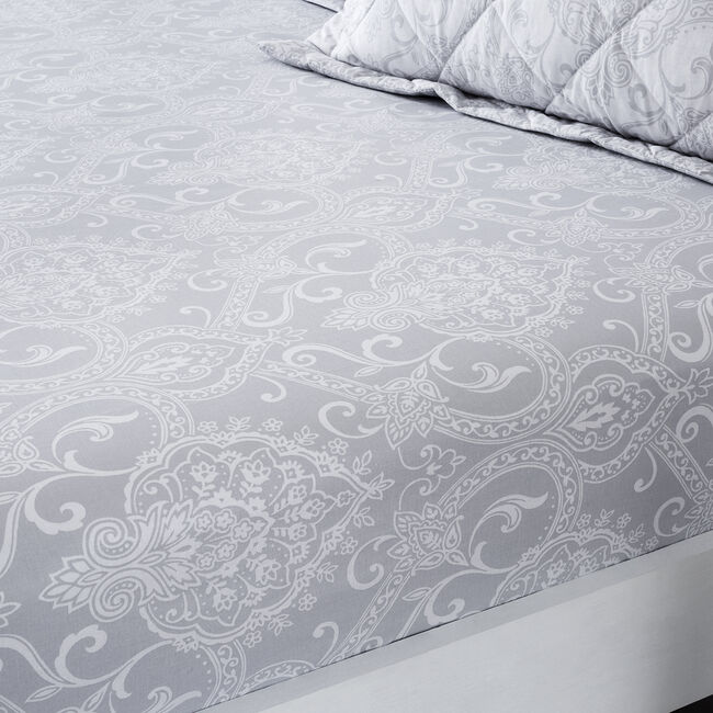TESS GREY Double Fitted Sheet