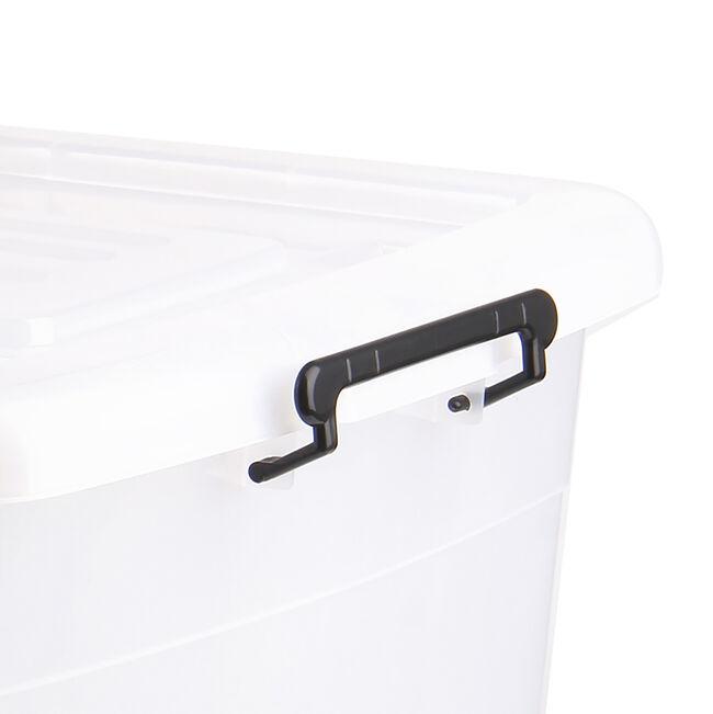 Rolling Storage Box 120L - Clear