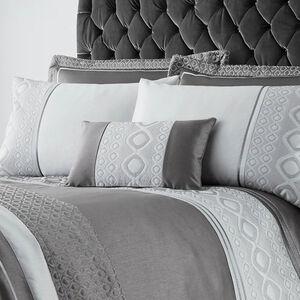 Luxury Geo Silver Cushion 30cm x 50cm
