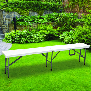 1.8M White Foldable Bench