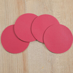 Round Leather Berry Coasters