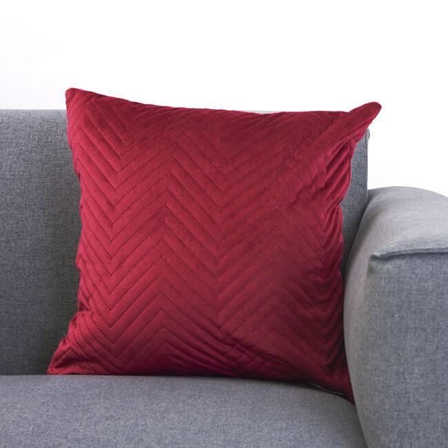 Triangle Stitch Cushion 58x58cm - Burgundy