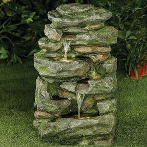 Large Rocks Waterfall Water Fountain