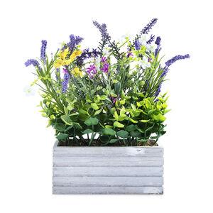 Lavender Floral Arrangement In Planter