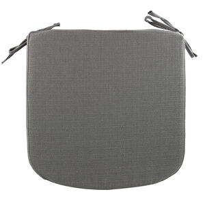Woven Kitchen Seat Pad - Charcoal
